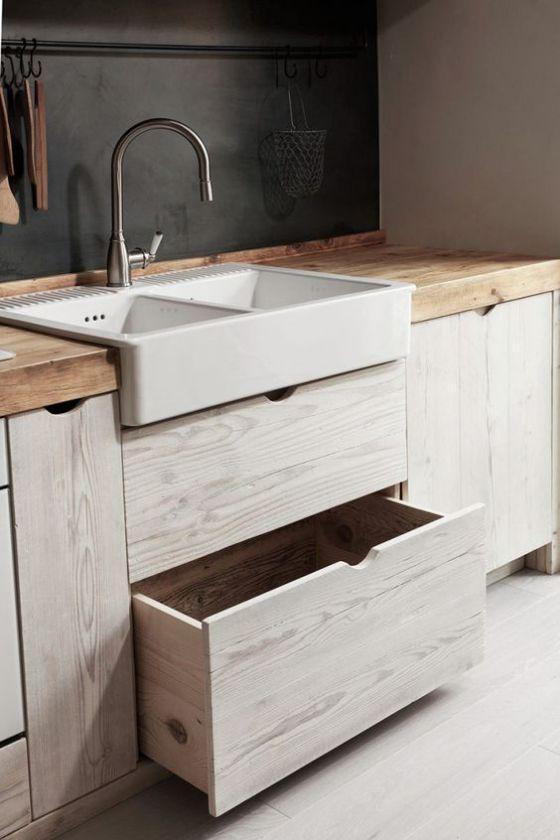 bonita cocina de madera integral