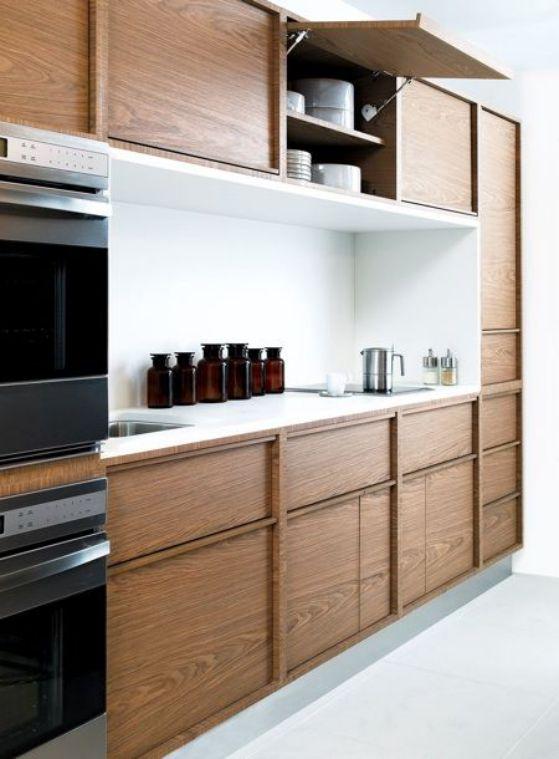 cocina de madera elegante