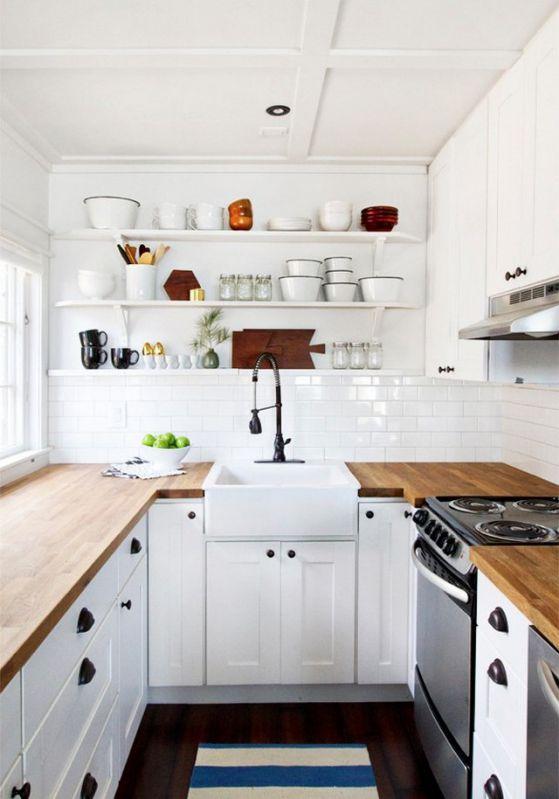 cocina integral pequeña estilo minimalista