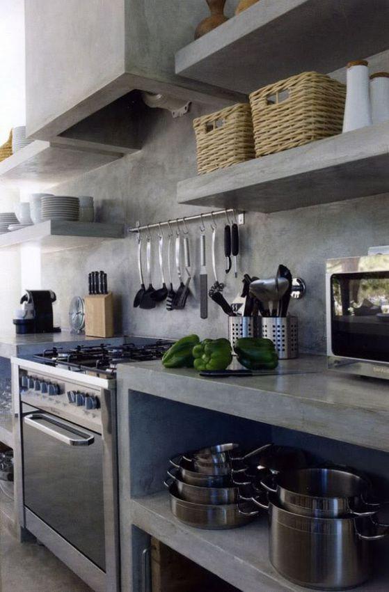 cocinas de cemento