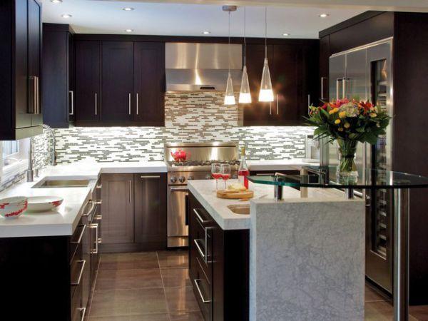 Cocinas integrales modernas grandes y pequeñas