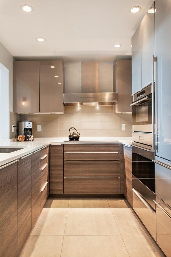 es suficiente Discurso Discrepancia  Muebles de Cocina, diseños Modernos, de Madera, Colgantes, Elegantes