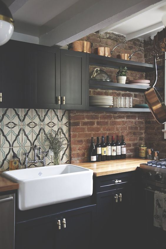 Muebles de cocina dise os modernos de madera colgantes for Muebles colgantes para cocina