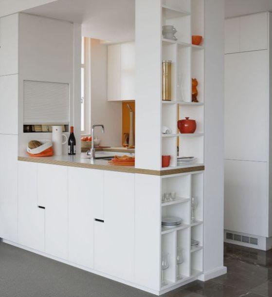 bonita cocina minimalista pequeña