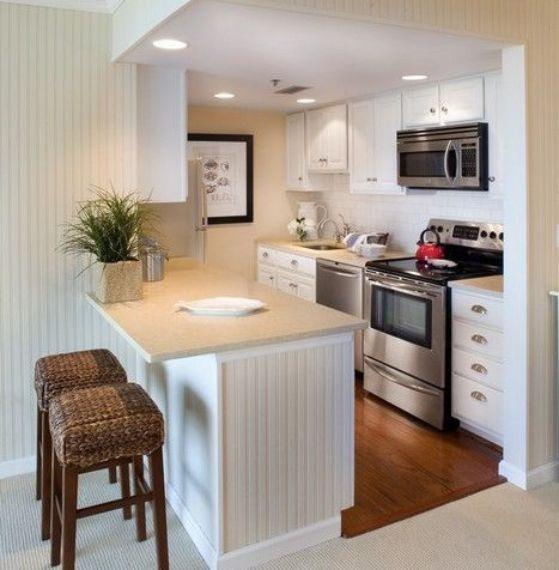 Cocinas peque as ideas para cocinas r sticas modernas y for Cocinas integrales para apartamentos pequenos
