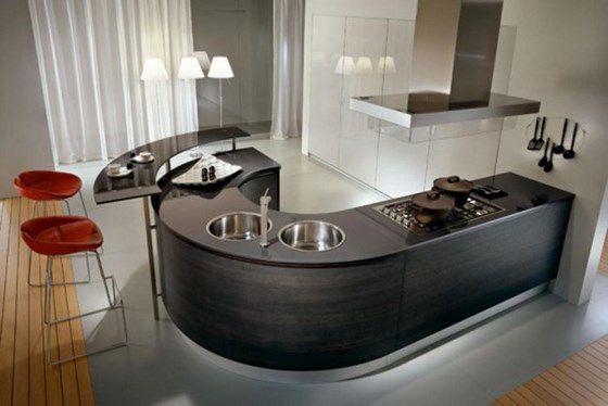 Cocinas peque as ideas para cocinas r sticas modernas y - Cocinas en forma de u pequenas ...