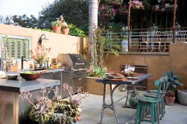 cocina exterior al aire libre