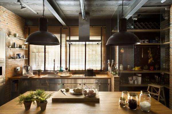cocina industrial elegante