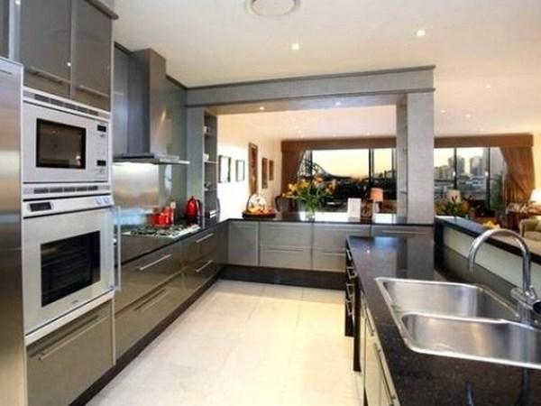 cocina industrial moderna para la casa