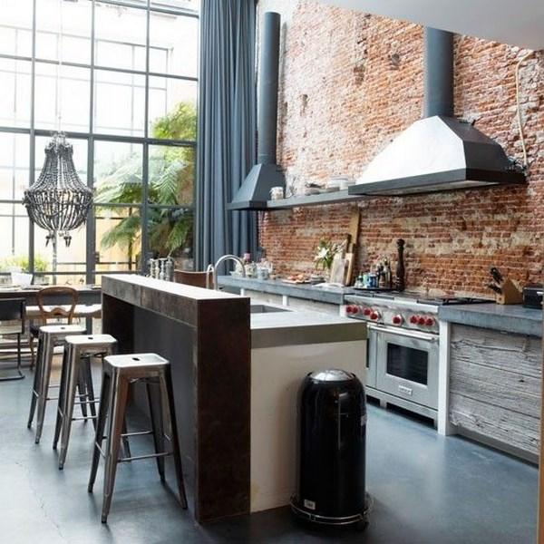 Cocinas industriales modernas peque as r sticas for Decoracion de cocinas industriales