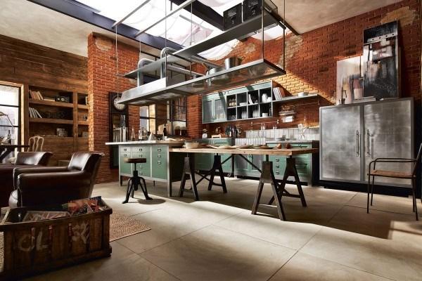 cocinas industriales modernas con un toque casero