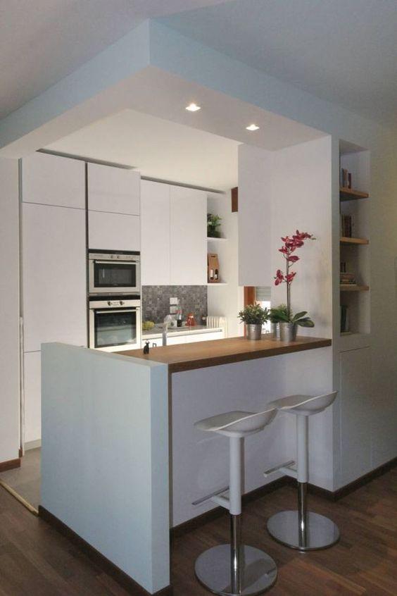 Cocinas empotradas grandes peque as modernas y sencillas for Modelos de cocina comedor pequenos