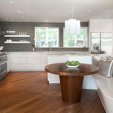 Mesas de cocina plegables peque as r sticas modernas y m s - Mesas de cocina madera ...