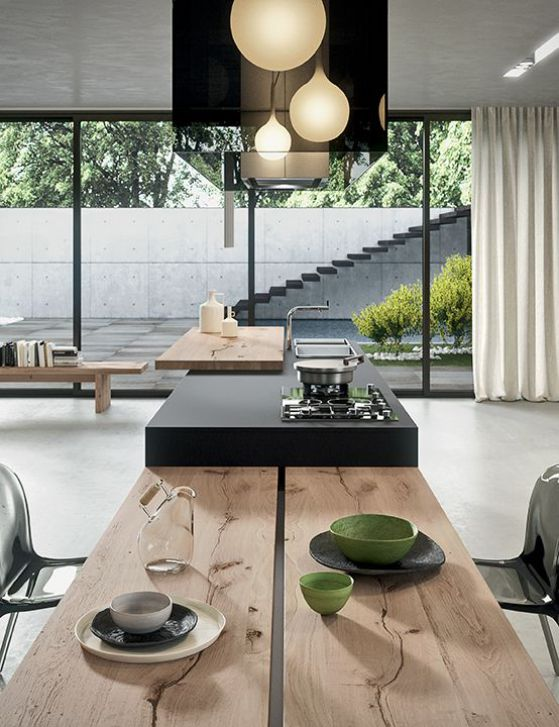 Mesas de cocina plegables peque as r sticas modernas y m s - Mesas redondas modernas ...