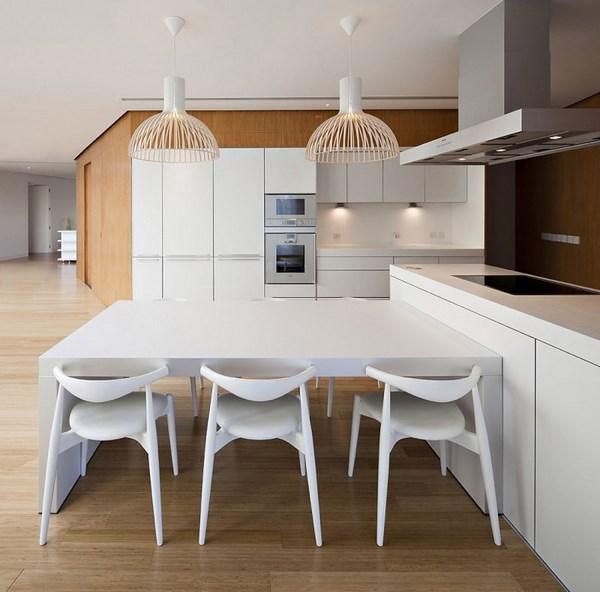 mesa minimalista para la cocina