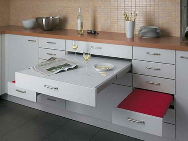 Mesas de cocina plegables peque as r sticas modernas y m s for Mesas para cocinas estrechas