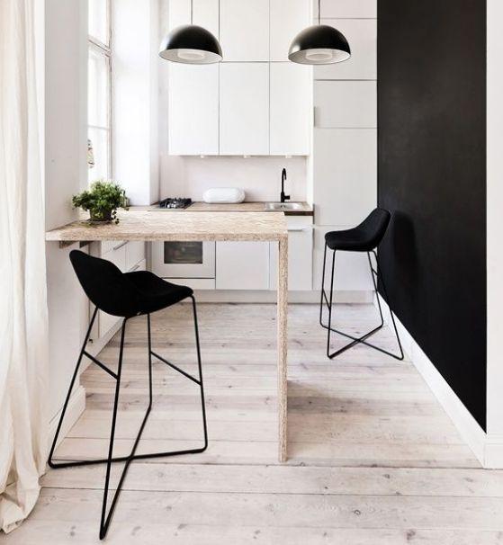 Mesas de cocina plegables peque as r sticas modernas y m s - Mesa pequena para cocina ...