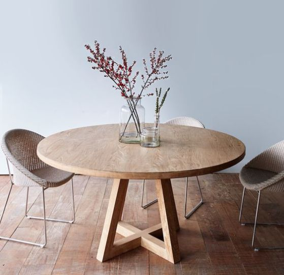 Mesas de cocina plegables peque as r sticas modernas y m s - Mesa redonda comedor ...