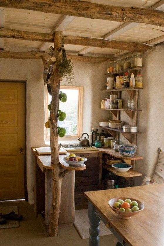 cocina campestre pequea cocina rustica - Cocinas Americanas Pequeas