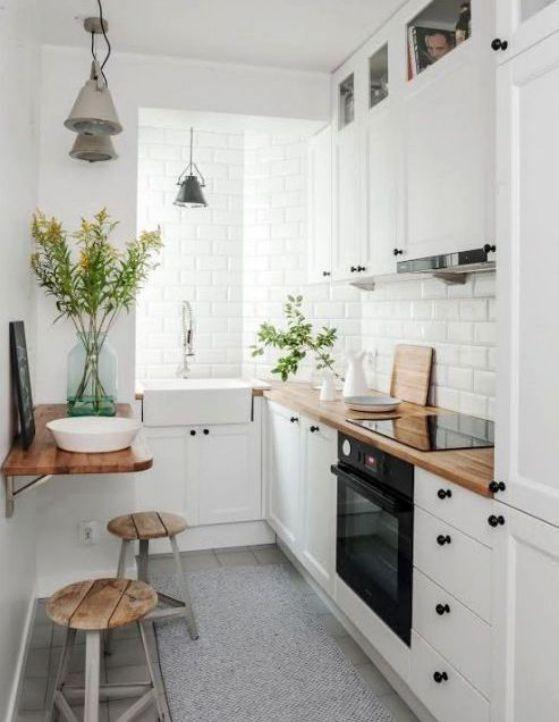 pequeña mesa de pared para la cocina