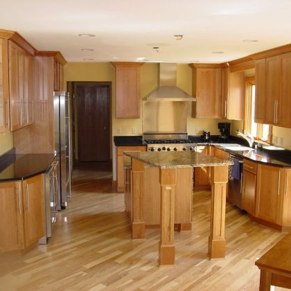 Cocinas de madera dise os r sticos modernos y peque as Modelos de cocinas de madera modernas