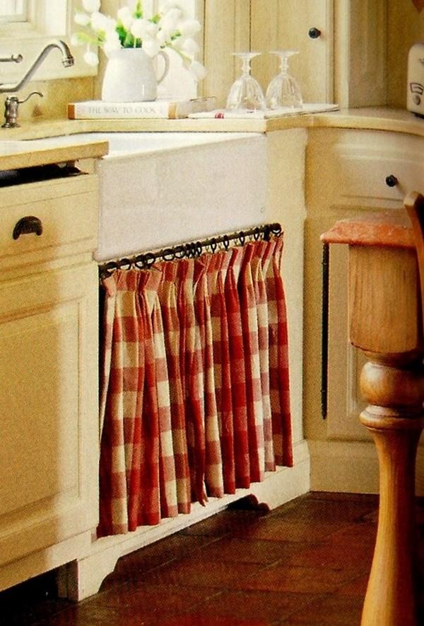 cajones de cocina con cortinas