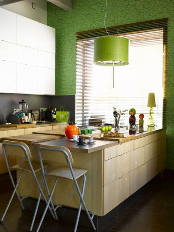 cocina decoradas tono verde