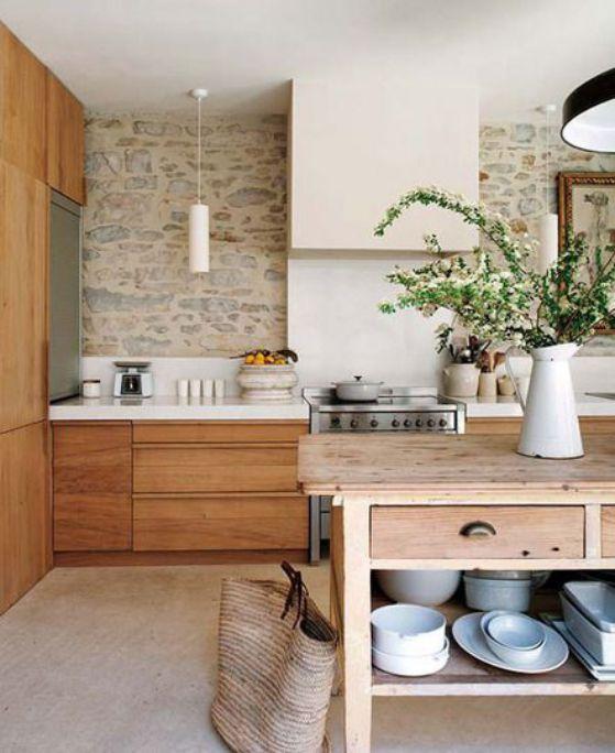 cocina estilo rural minimalista