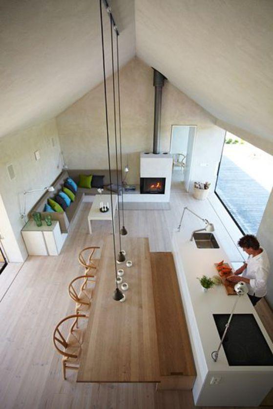 cocina grande diseño sencillo