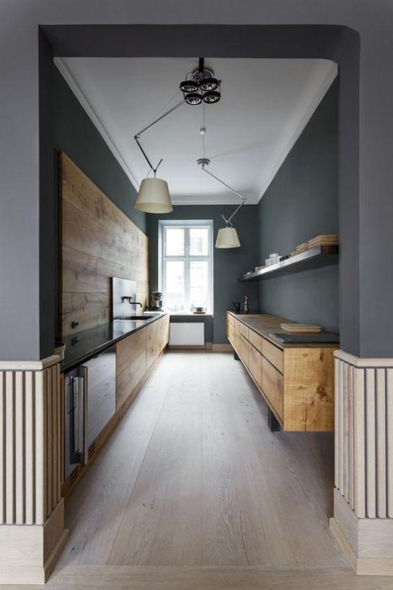 cocina mediana minimalista