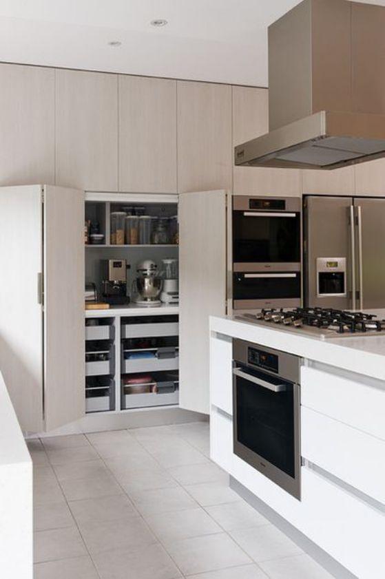 Cocinas minimalistas modernas peque as y grandes estilos 2018 for Diseno de cocinas minimalista