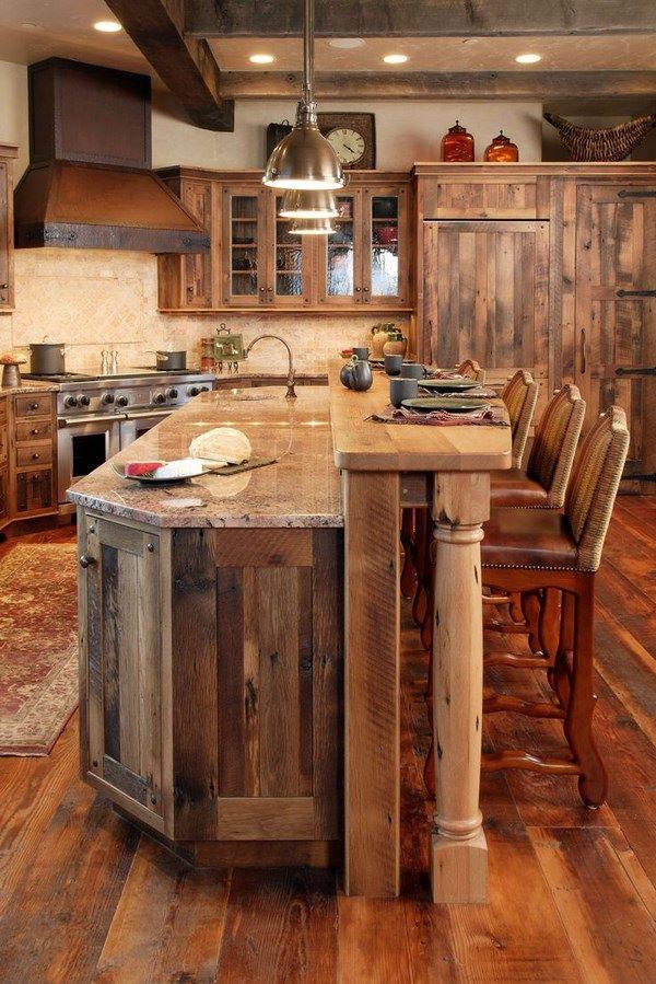 cocina rustica y elegante
