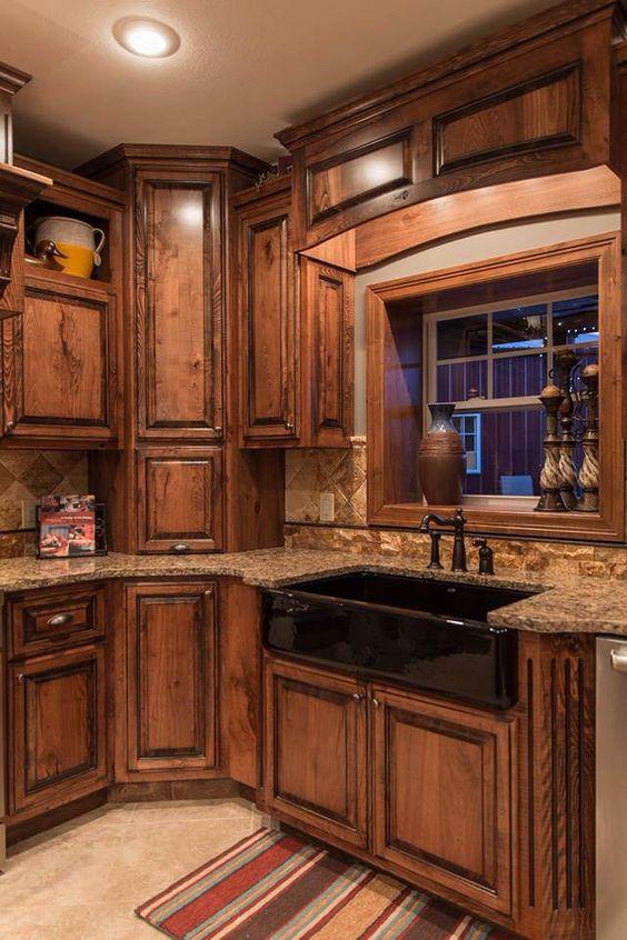 Cocinas r sticas de madera piedra ladrillo y dise os for Ver cocinas rusticas