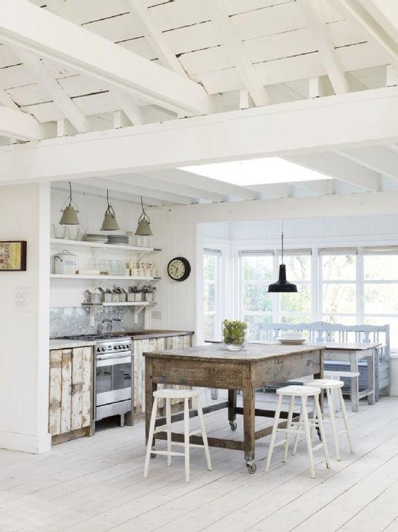 Cocinas Rústicas Blancas (2)