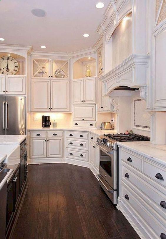 Cocinas r sticas de madera piedra ladrillo y dise os espectaculares - Cocinas rusticas blancas ...
