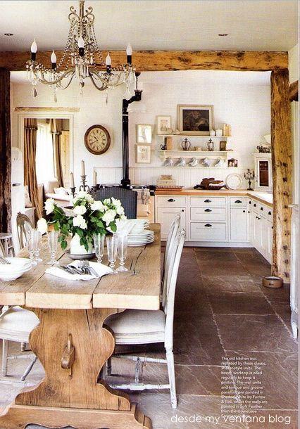 Cocinas Rústicas Blancas (6)
