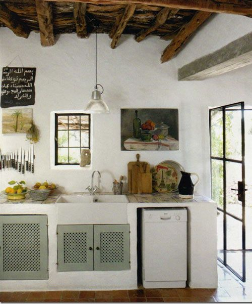 Cocinas Rústicas Blancas (7)