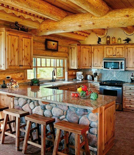 Cocinas Rusticas De Madera Piedra Ladrillo Y Disenos Espectaculares