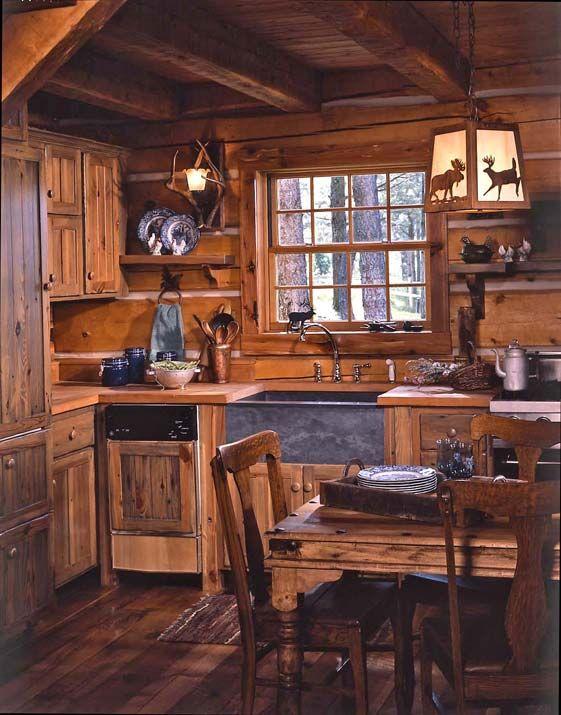 Cocinas r sticas de madera piedra ladrillo y dise os - Disenos de cocinas rusticas ...
