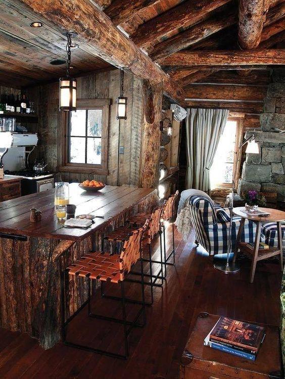 Cocinas Rusticas De Madera Piedra Ladrillo Y Disenos Espectaculares - Cocinas-rusticas-de-campo
