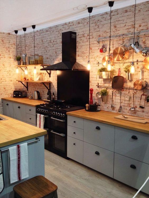 Cocinas r sticas de madera piedra ladrillo y dise os for Cocinas integrales rusticas