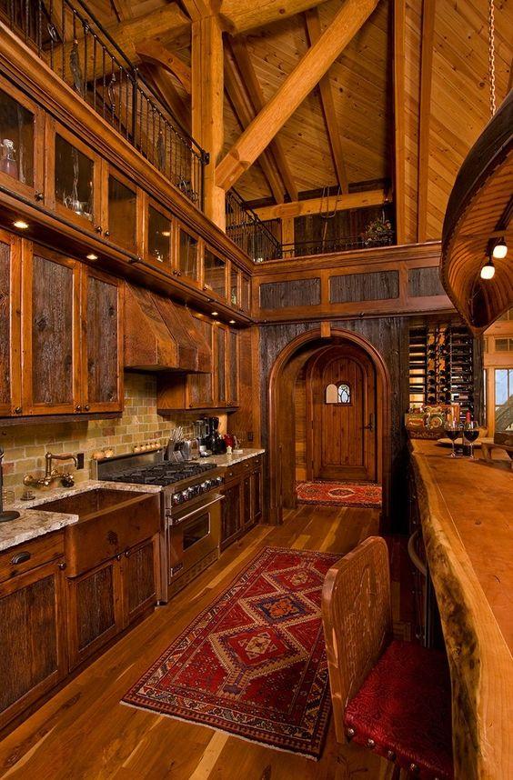 Cocinas r sticas de madera piedra ladrillo y dise os - Cocinas hechas a mano ...