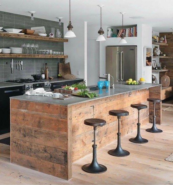 cocinas rusticas grandes