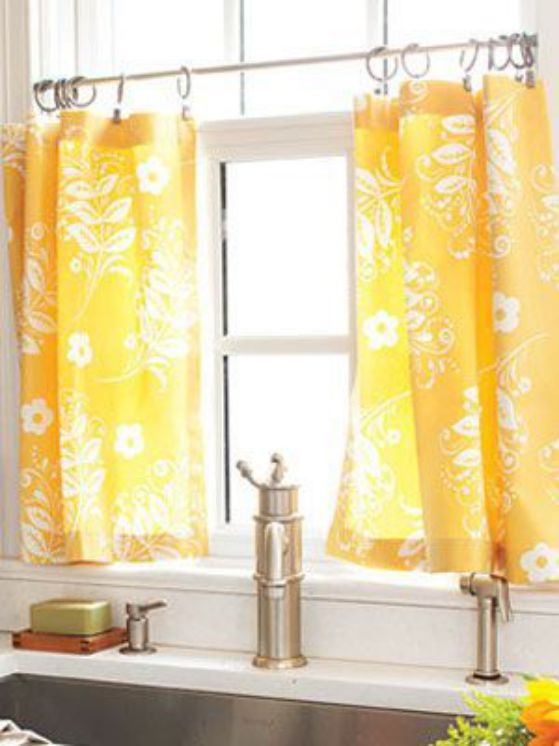 cortina color naranja