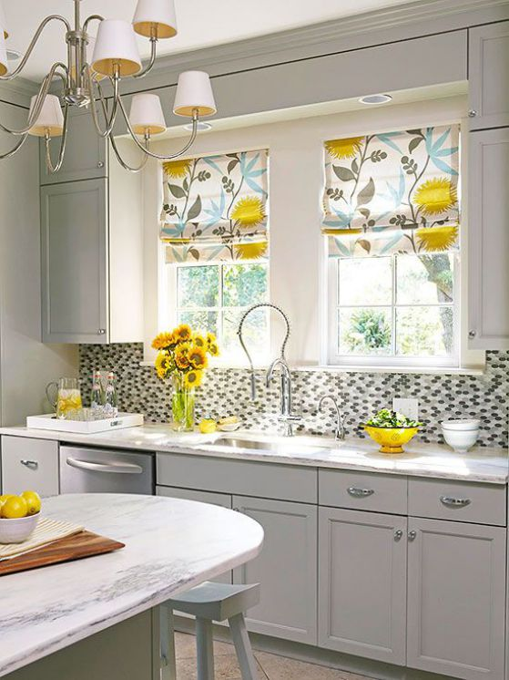 Cortinas para cocinas dise os r sticos modernos for Kitchen designs without windows