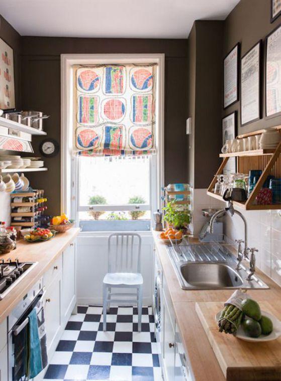 cortina para cocina pequeña