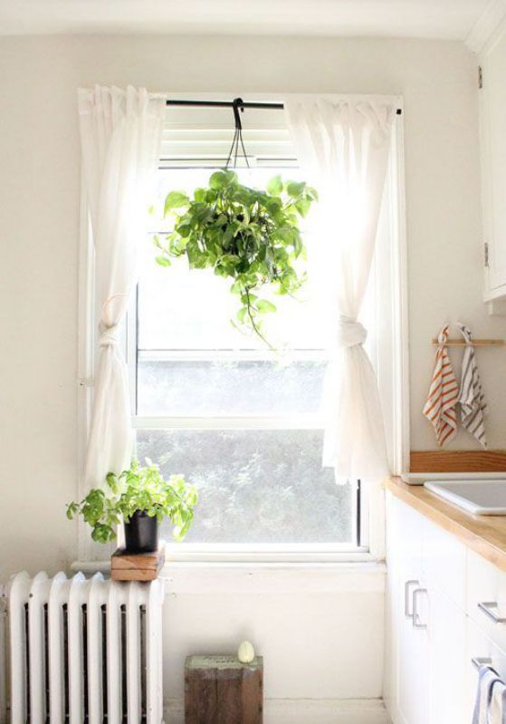 Cortinas blancas modernas dormitorio estilo minimalista for Cortinas blancas para sala