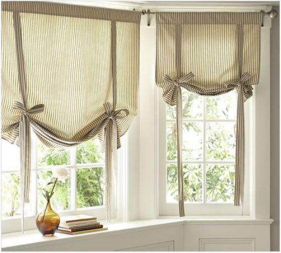 cortinas con moño