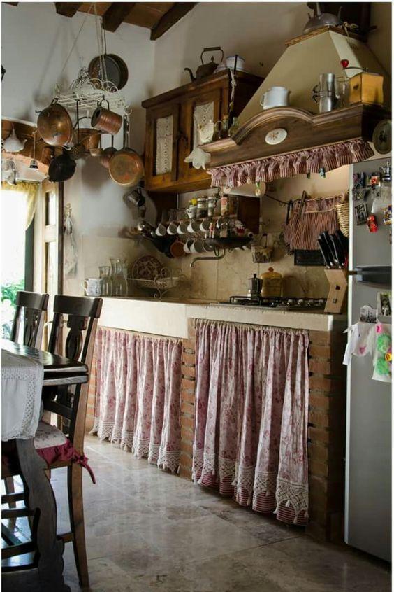 Cortinas para cocinas Diseños Rústicos, Modernos, Navideños ...