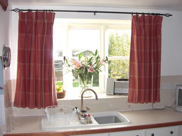 decoracion con cortinas para cocinas